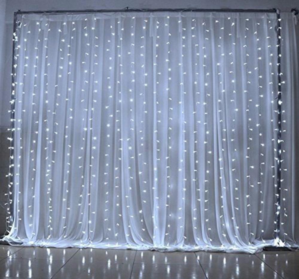 3*3 mt 300LED, 8 Modell Fenster Vorhang Lichterketten Eiszapfen ...
