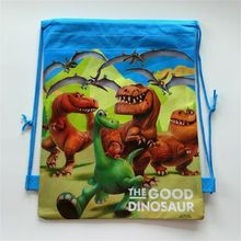 1pcs the good dinosaur non-woven fabrics drawstring candy bag kids birthday party loot dino gift