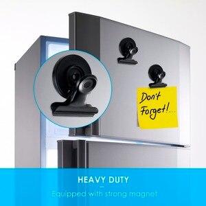16 шт./лот, металлический магнитный зажим для холодильника, нескользящий держатель для заметок, захват для документов, офисный магнитный дер...