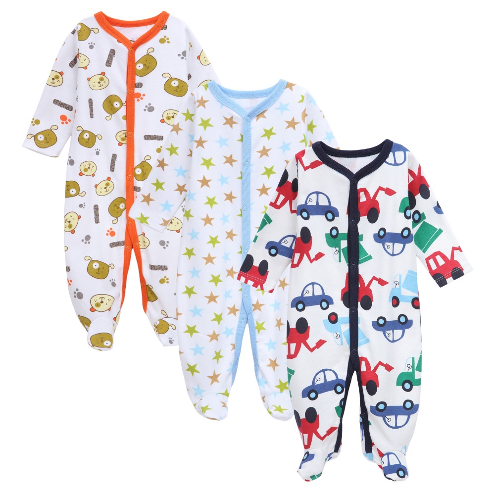 3pcs/lot 2017 Newly Fashion Newborn Baby Rompers Toddler Bably Soft Cotton Jumpsuits Little Kids Clothes for 0-12M Baby Clothes 0 18m baby clothes newborn baby rompers character elk soft cotton knitted baby onesie jumpsuits toddler rompers wholesale