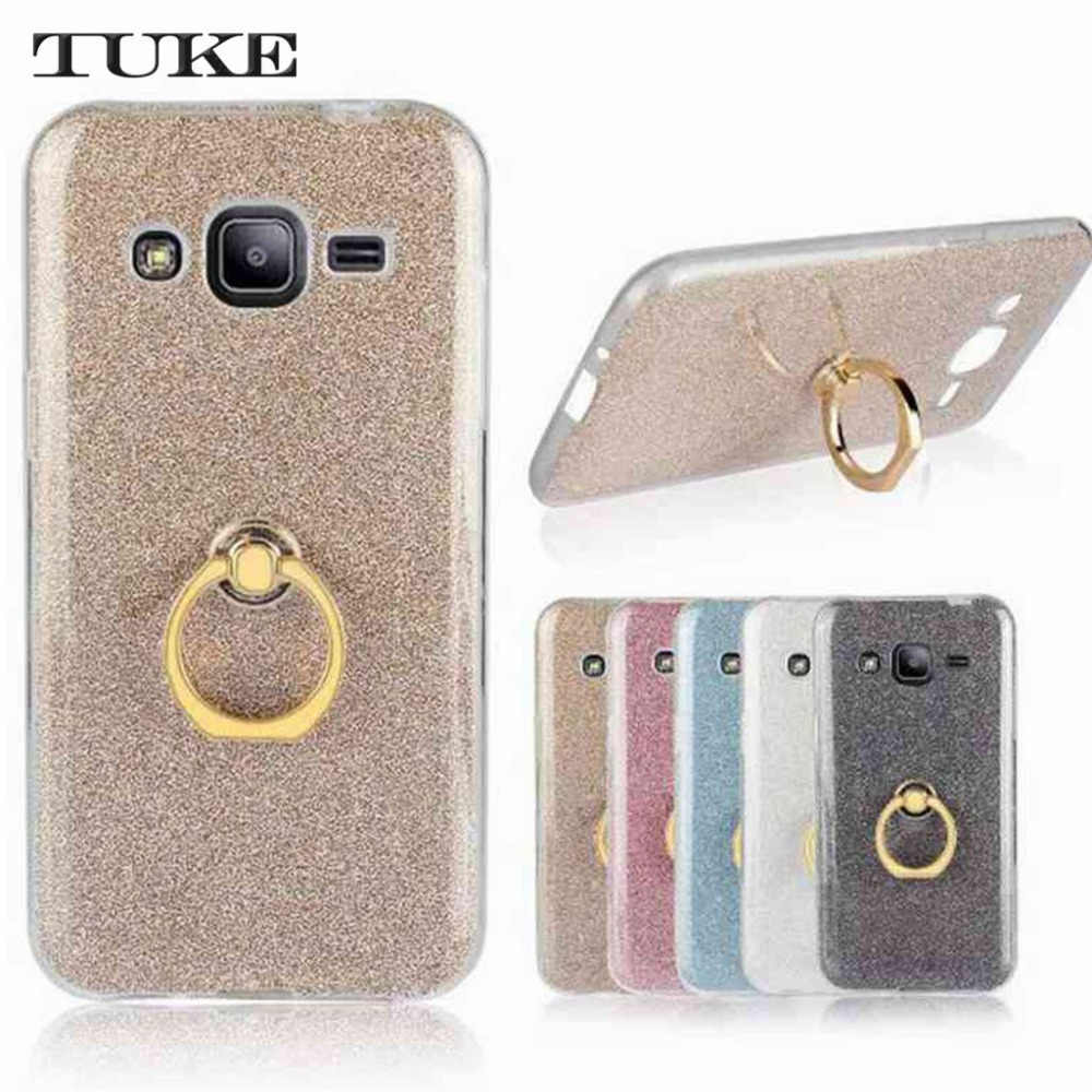 Brand Tuke Soft Silicone TPU Cover Case for Samsung J2 J 2 2015 SM-J200H/DS Galaxy J2 SM-J200F SM J200 J200F J200H + Ring Holder