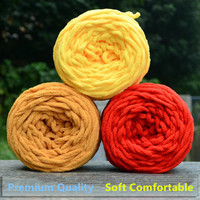 600グラム/バッグ/6ピース編み厚い糸編みコットン/アクリル太い糸用帽子スカーフセーター子供暖かい服ハンド編
