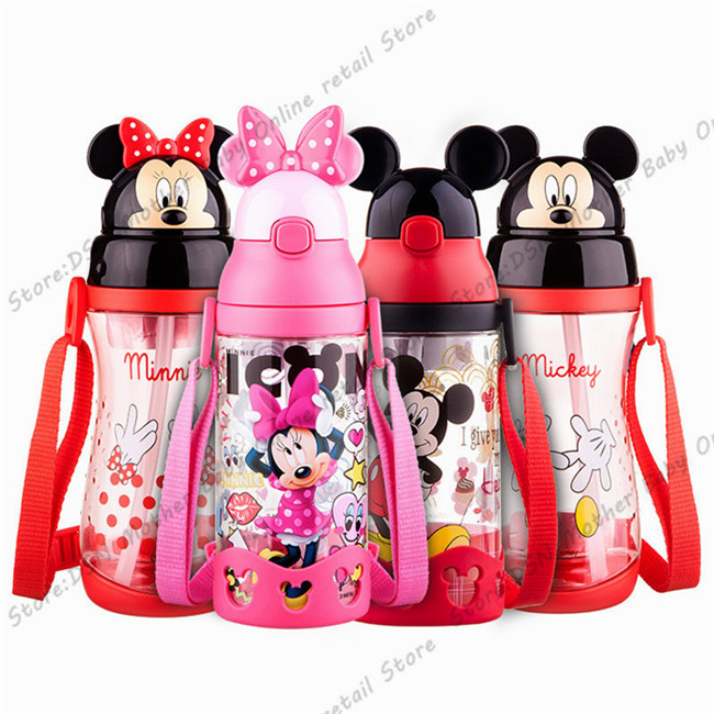 Disney-children-press-the-cup-handle-baby-with-straw-leak-proof-plastic-cup-flip-student-resistance (5)
