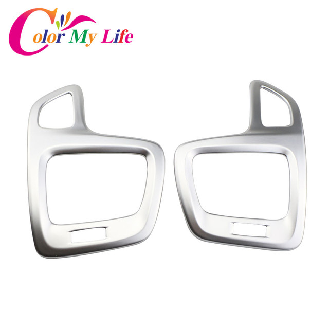 Color My Life Car Chrome Air Vent Protective Cover Air Conditioner Outlet Trim Sticker for Jeep Compass 2017 2018 Accessories