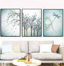 Modern Dragonfly Wall Art Canvas Prints Poster Posters And Prints Cuadros  Wall Pictures For Living Room
