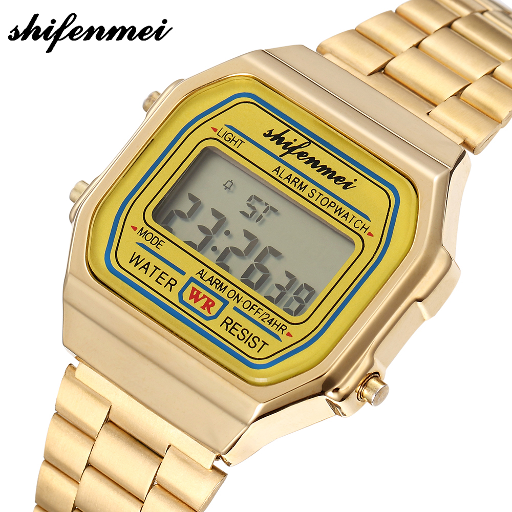 Digital Watches Hearty Shifenmei S2135 Fashion Digital Watches Count Down Life Waterproof Relogio Preto Dourado Led Rose Male Branco Women Watch An Indispensable Sovereign Remedy For Home