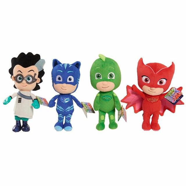 4pcs PJ MASKS PLUSH 4Styles Cat Boy  Gekko  Owlette Cartoon Movie Mask GIRL Dolls & Stuffed Toys Size 20cm birthday GIFT