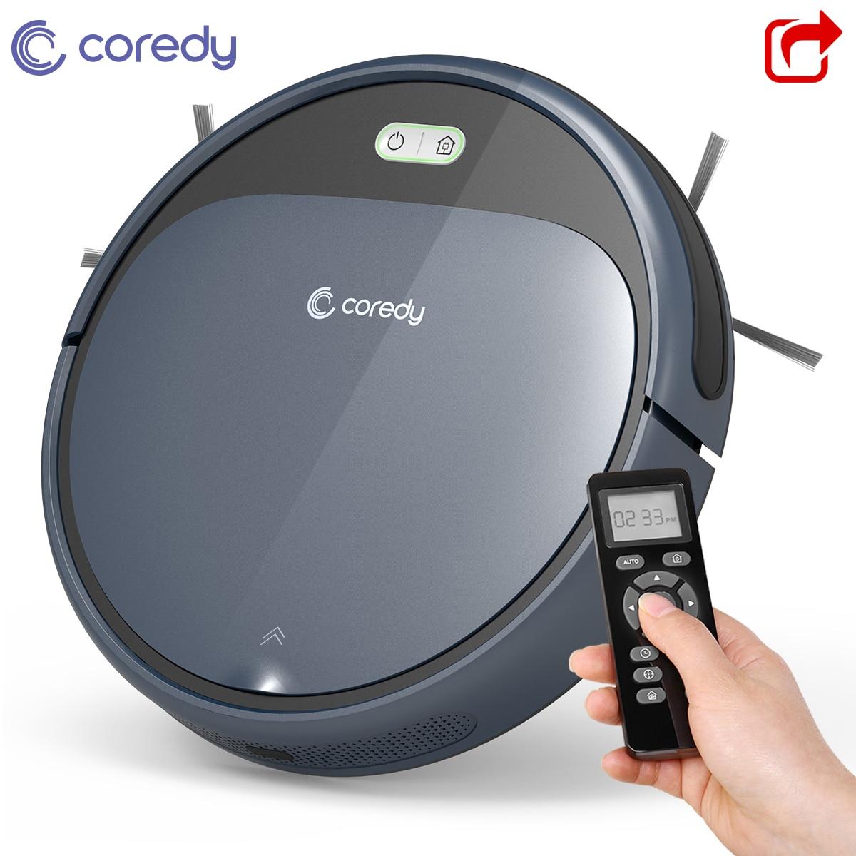 Горячая Coredy R300 1400 PA робот пылесос для напольных покрытий для чистки ковров перезаряжаемая, интеллектуальная Автоматический робот уборщик в