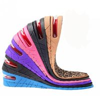 1 Pair PU 4 Layers Taller 7 5CM UP Air Cushion Height Increase Increasing Elevator Shoe