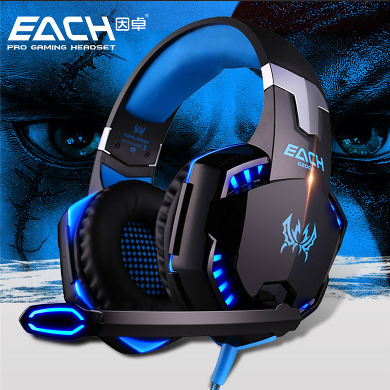 KOTION EACH G2000 Gaming font b Headset b font Wired earphone Game headphone with microphone led