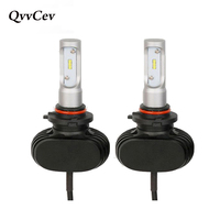 QvvCev Auto Car Headlight Led H7 H4 LED 9005 HB3 9006 HB4 H1 H3 H11 H8