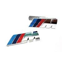 M TECH SPORT FRONT GRILL REAR TRUNK BADGE CHROME EMBLEMS FOR BM E36 E46 E39 E60