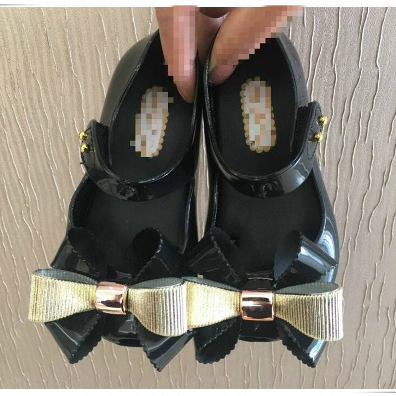 Free Shipping Mini Melissa Girls Sandals Jelly Shoes 5-18cm Crystal Shoes 2018 New ChildrenS Mesh Hole Shoes Girls Shoes