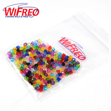 Wifreo 100PCS 4mm Mix Color Multiple Faces Shinning Plastic Beads for Rigging Fly Tying Saltwater Fishing Accessories