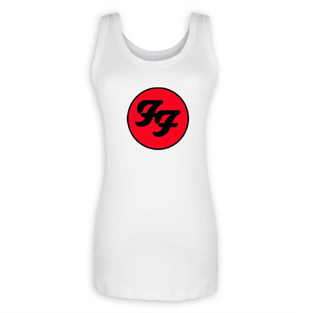 Foo Fighters жесткий рок-н-ролла дамы девушки o-образным вырезом майка мода Persoanlity Лето Топы корректирующие Для женщин Простые хлопковые футболки подарок