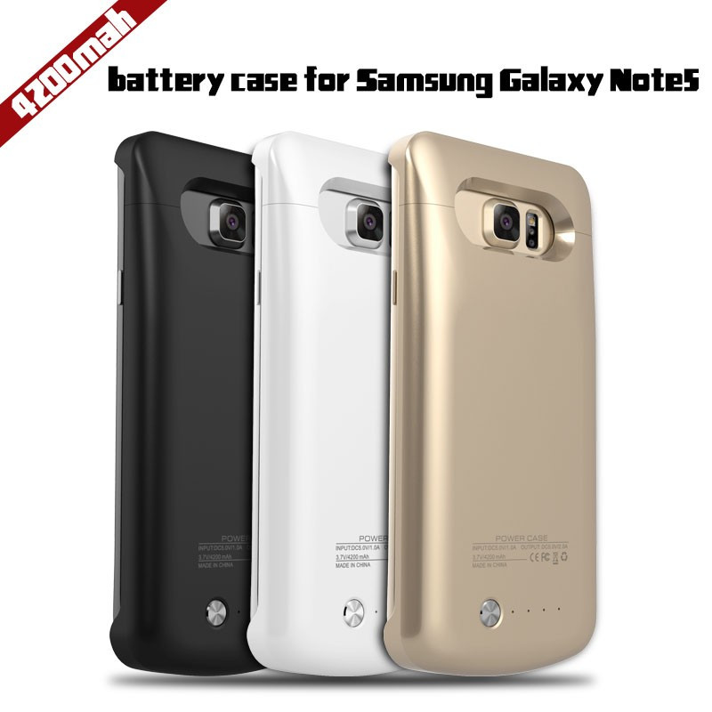 High quality 4200mAh Backup Power Bank Bttery Charge Cover Case For Samsung Galaxy Note 5
