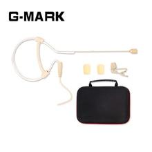 G-MARK Профессиональный всенаправленный наушник с одним ухом, подвесной микрофон для беспроводной системы, цвет кожи с 1 упаковочной коробкой