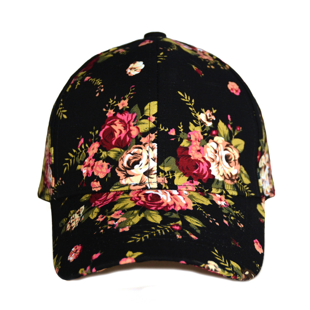 a090baf1138 Aliexpress.com   Buy WEARZONE Fashion Floral Print Baseball Cap 100% Cotton  Canvas Adjustable Dad Hats 2018 Spring Younth Hat for Women from Reliable  dad ...
