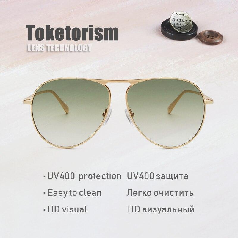 Metallo Verde Occhiali Frame 42343 Lenti Da Toketorism colore Uomo Giallo Sole Pilot Donna In Uv400 Rosa Sfumate colore brown xO8Owq70t