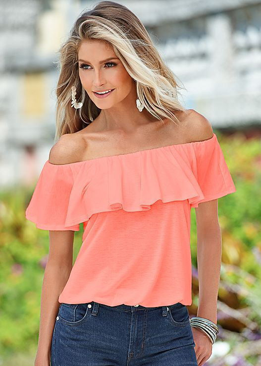 2016-Women-Tops-Sexy-Ruffle-Off-Shoulder-Blouse-Ladies-Chiffon-Tops-Solid-Color-Casual-Shirt-Blusas