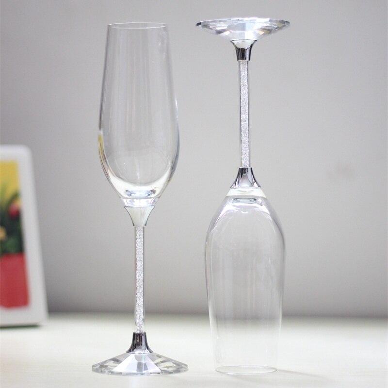 New design crystal clear 250 ml taças de champanhe casamento
