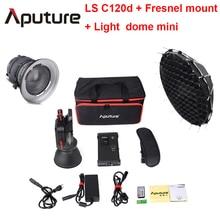 Aputure LS C120D + Fresnle montieren + Licht dome mini Kit professionelle film licht cob licht diffusor schießen licht mit V montieren