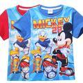 Nuevo 2015 de moda de verano de manga corta bebé niño niños camiseta para niños ropa de algodón camiseta de los niños remata camisetas