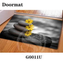 Free Shipping beautiful stone Zen stone Custom Doormat Home Decor Bedroom Carpet Classic Durable Floor Mat(China)