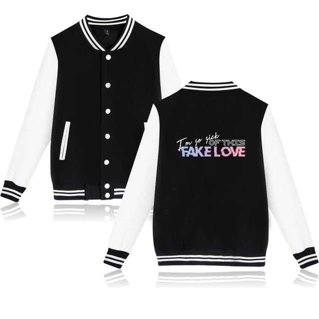 BTS Fake Love Baseball Jackets