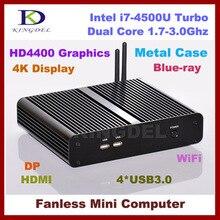 3-летняя гарантия мини-компьютер тонкий клиент, Intel i7-4500U Haswell двухъядерный Процессор, 4 ГБ Оперативная память 128 ГБ SSD, USB 3.0 DP, HDMI, Wi-Fi