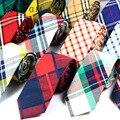 Nueva Moda 100% Algodón Lazos Para Los Hombres Mens Casual Plaid Corbata Gravatas Corbata Corbatas Corbatas Trajes Delgados Vestidos de Fiesta