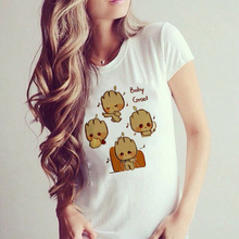 ZZSYKD Cute Baby Groot Printed T Shirt I AM GROOT Tops Ulzzang Sexy Graphic Tees Women Tshirt Kawaii Clothes Punk Tumblr Roupas