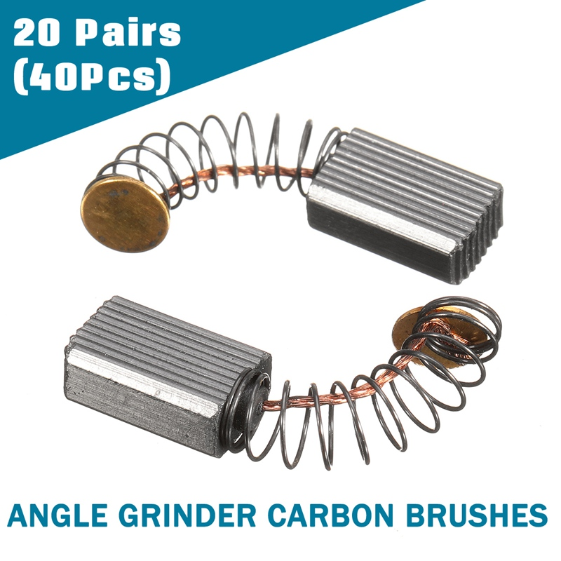 Doersupp New 20 Pairs Black Decker Carbon Brushes Angle Grinder 800W 100mm Repair Replacement Tools 5mm x 8mm x 12mm