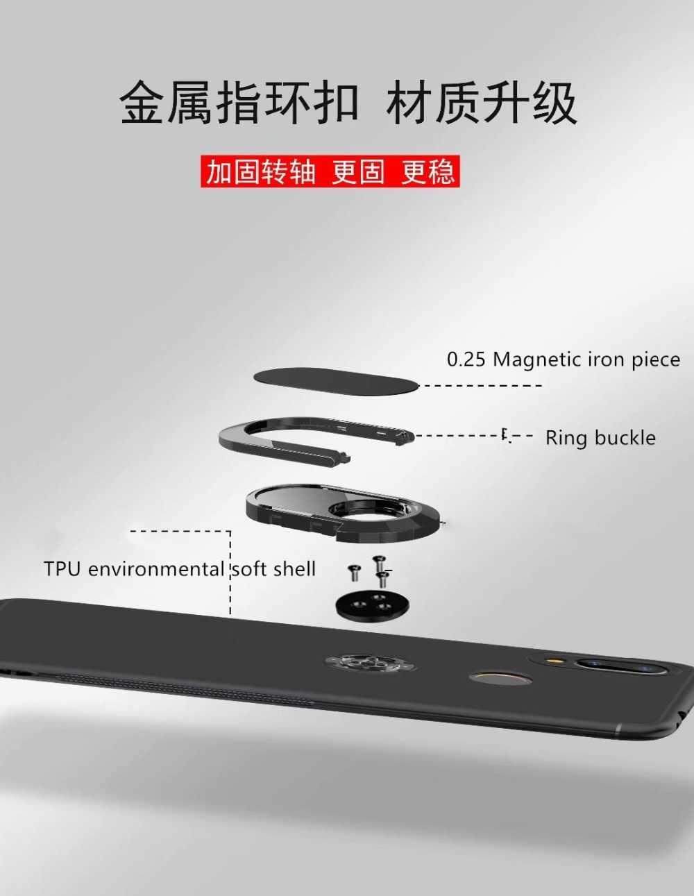 Luxury Car Bracket Ring Magnetic TPU Protective Case For Huawei P20 Pro Lite Mate 20 10 9 Lite Pro Cover Nova 3 3i 3E Case