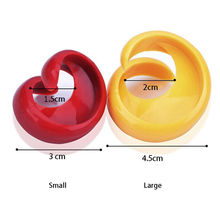 2PCS Manual Fancy Sausage Spiral Barbecue Hot Dogs Cutter