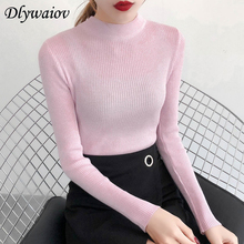 Sueter Mujeres Half Turtleneck Sweaters Female Slim Elasticity Knit Pullover Winter  Women Long Sleeve Bottom Sweater Pull femme mujeres sueter women turtleneck sweater winter fashion lantern sleeve korean ribbed knitted pullover solid color pull femme 2018