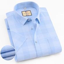 2019 Fashion Plaid man Shirt Casual short sleeve Summer Mens Shirts Brand Dress slim fit more colors