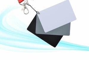 Image 3 - 3 Trong 1 8.5X5.5Cm Trắng Đen 18% Xám Cân Bằng Màu Sắc Thẻ Kỹ Thuật Số Màu Xám Thẻ Có Dây Đeo Cổ dành Cho Máy Ảnh DSLR Cân Bằng Trắng