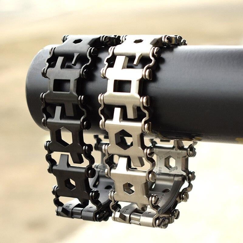 Survival Multi Tools Wearable 29 In 1 Stainless Steel Bracelet Strap Multi-function Screwdriver Outdoor Emergency Kits Multitool (9)