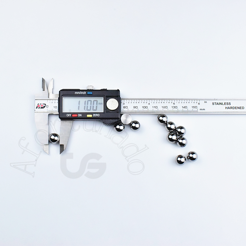 11 мм 0,4330709 (дюйм) 10 шт. шариковый подшипник из хромированной стали Диаметр шарика: 11 (мм) Точность: G10-Grade