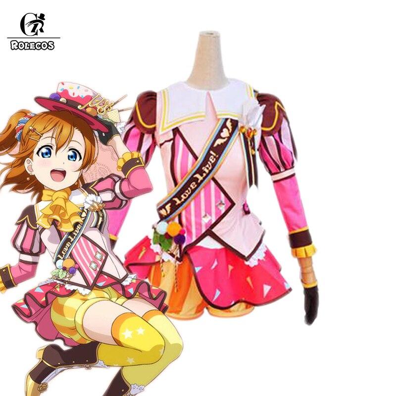 ROLECOS Japanese Anime Love Live! Cosplay Costumes Ice Cream Arousal Kousaka Honoka Minami Kotori Ayase Eli Cosplay Costume