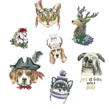 Patches For Clothes 3D Cat Dog Deer unicorn Heat Transfer DIY Accessory Washable New Design Clothing Deco Badges Patch