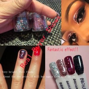 Image 5 - 1 коробка 10 мл крупные фотообои для глаз лица тела Блестящие Блестки Дизайн ногтей наконечники Декор 0,2 2 мм блеск для дизайна ногтей