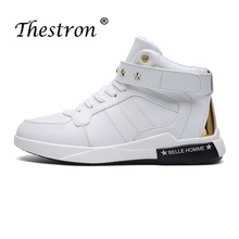 2018 Hot Sale Fashion Footwear for Men Big Size46 Comfortable Shoes High Top Youth Boy Casual Flats Shoes Brand Lace Up Sneakers цена