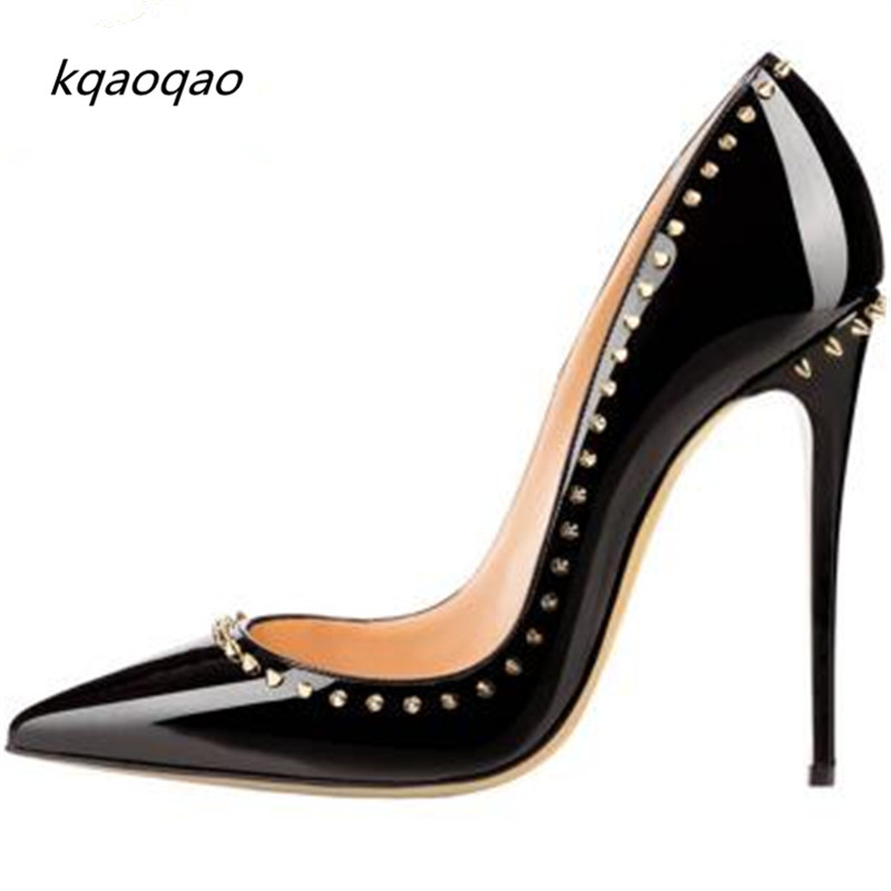 2018shallow Clear Thin High Heels Sexy Rivets Spike Women Party Shoes Pointed Toe Classical Ankle Strap Studs Ladies Party Shoes Security & Protection