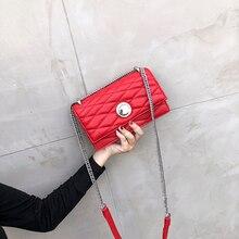 Free shipping 2018 new handbags fashion trend messenger bags single shoulder retro diamond lattice chain women bag