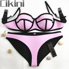 Swimwear Woman Neoprene Material Bikinis Women New Summer 2016 Sexy Swimsuit Bath Suit Bikini set Bathsuit Biquini TA001 Cikini