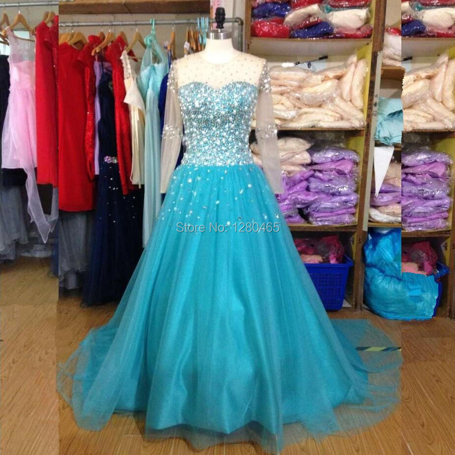 Wedding Turquoise Wedding Dresses popular turquoise wedding dress buy cheap real photo women long sleeve with crystals and stones lace up back vestido