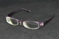 RARE ONE!!! Women Lady side hearted purple style high myopic high myopia myodisc glasses vision aid -10D PD64
