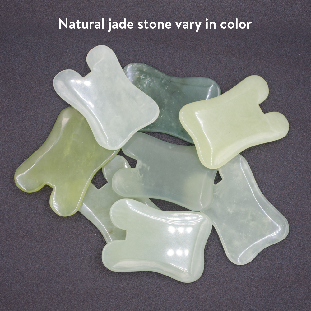 BYRIVER Good Quality Real Jade Stone Face Massager Gua Sha Scraping Tools Relief Muscle Stiffness Traditional Medical Therapy in Massage Relaxation from Beauty Health
